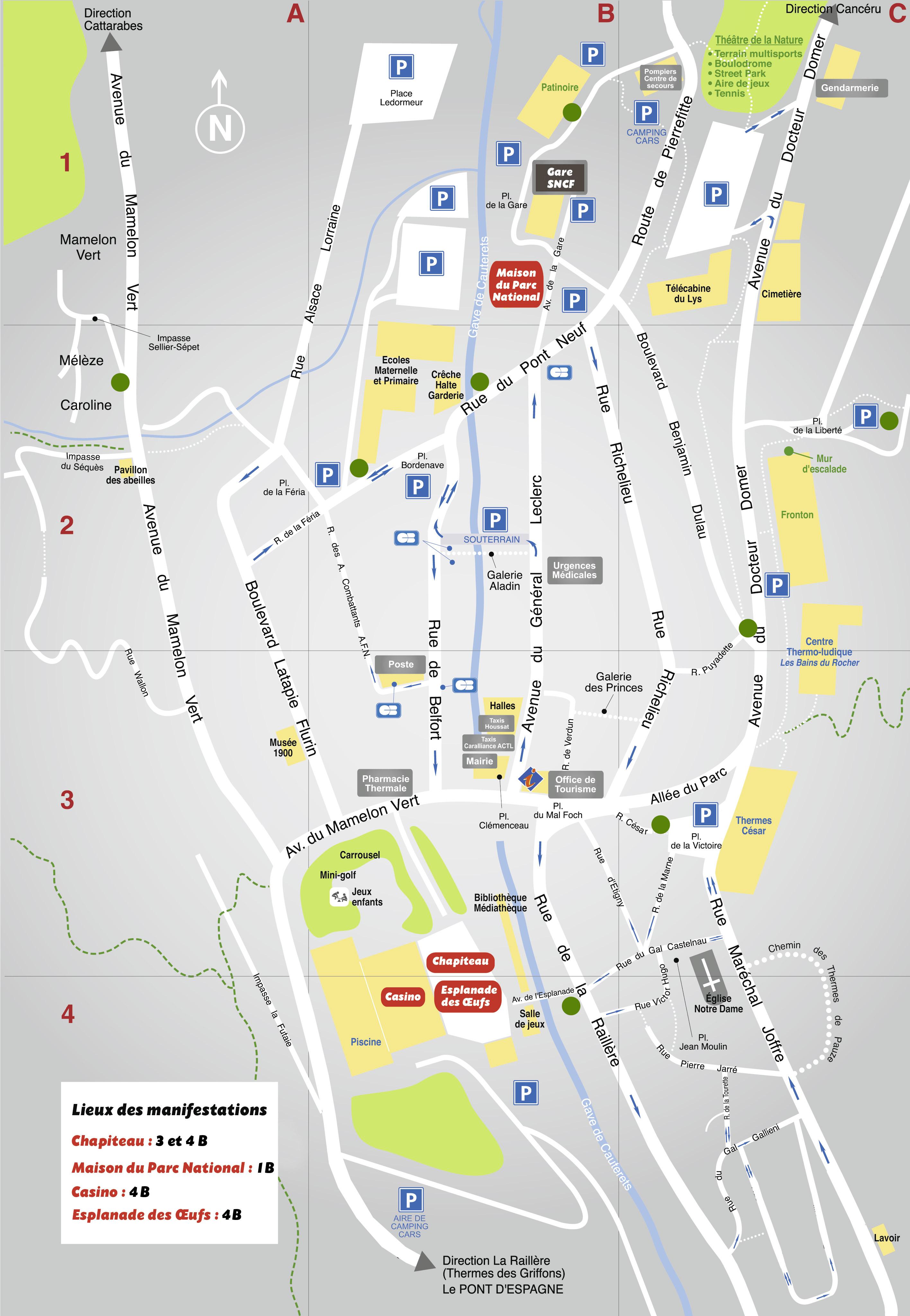 Plan du Festival Cauterets