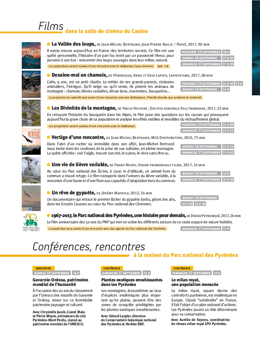Films, Conférences & Rencontres FPIN 2017