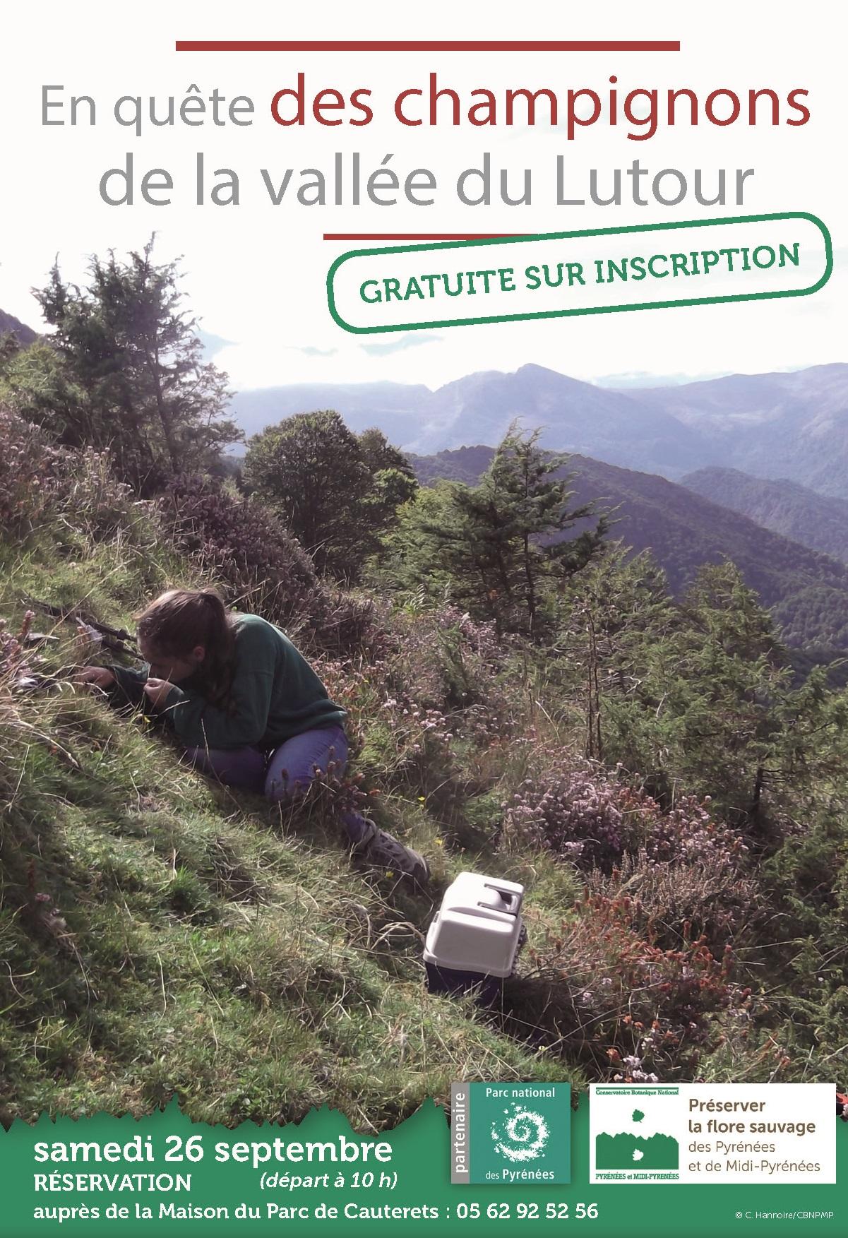 En quête des champignons de la vallée du Lutour © Conservatoire Botanique Pyrénées et Midi-Pyrénées
