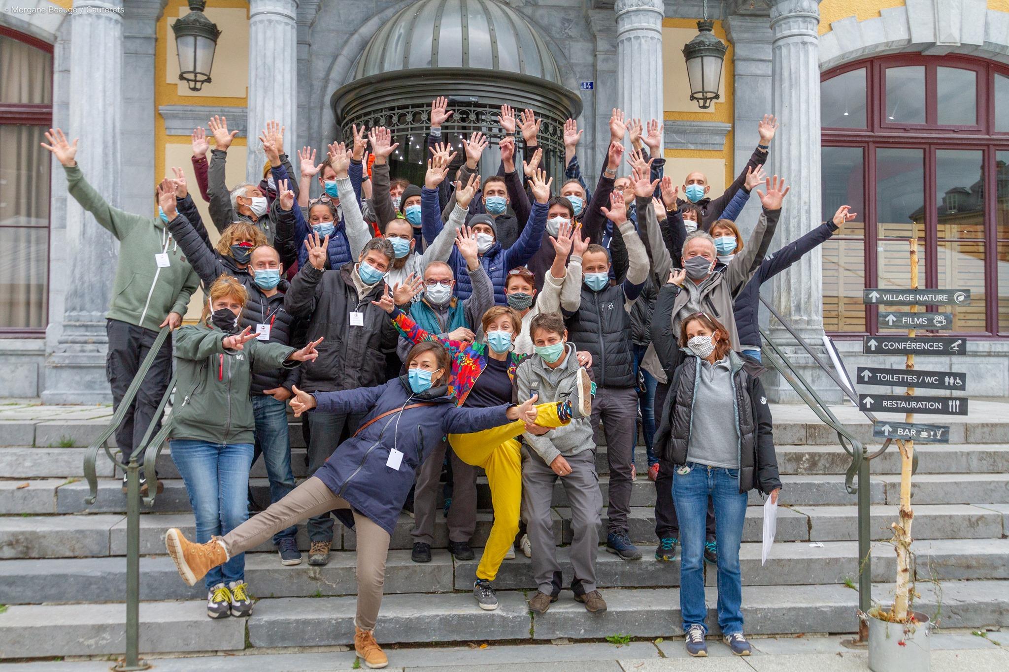 Photo de famille FPIN 2020  - Merci à tou(te)s ! © Morgane Beaugé - cauterets.com